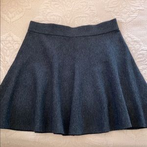 Club Monaco grey wool circle skirt